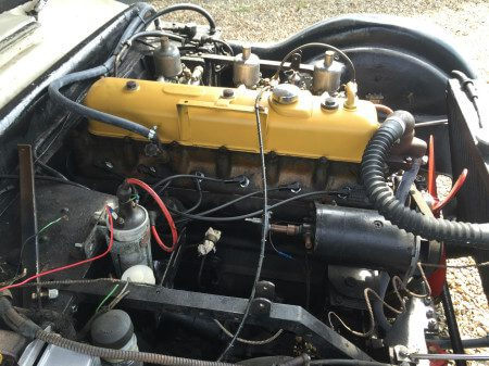 1956 Jensen 541 engine bay