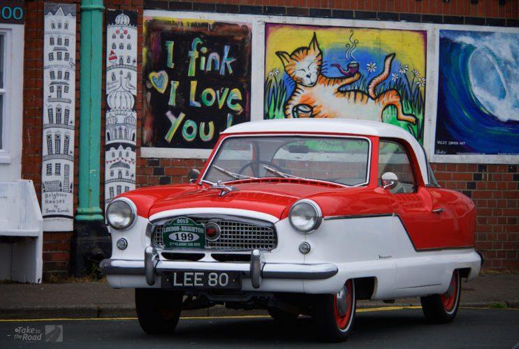 Nash Metropolitan at the London to Brighton Classic Car Run