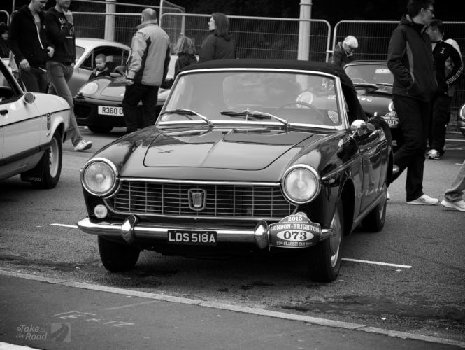 Very nice Fiat 1500 Spider at the London to Brighton Classic Car Run