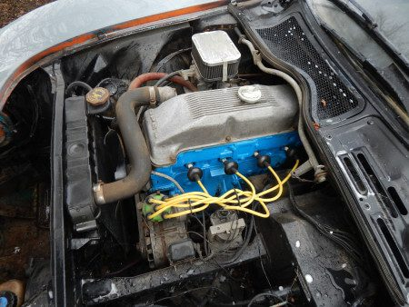 1970 Opel GT engine bay