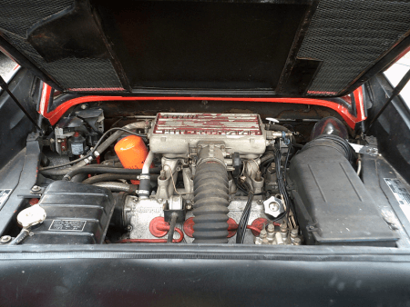 1987 Ferrari 328 GTS engine bay