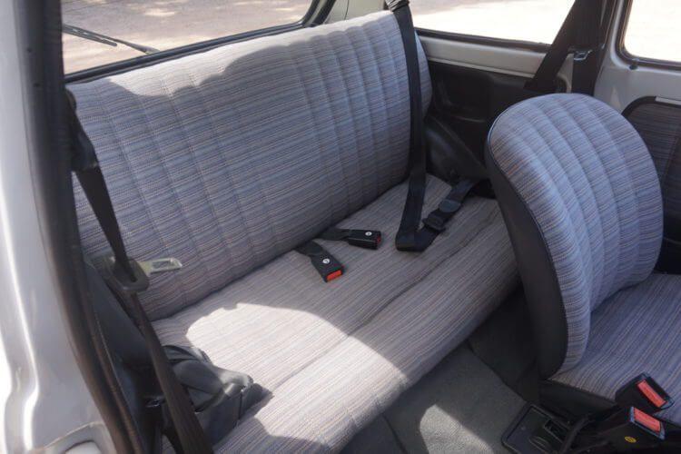 1990 Fiat 126 BIS rear seats