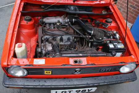 1979 VW Golf GTi Mk1 Series 1 engine bay