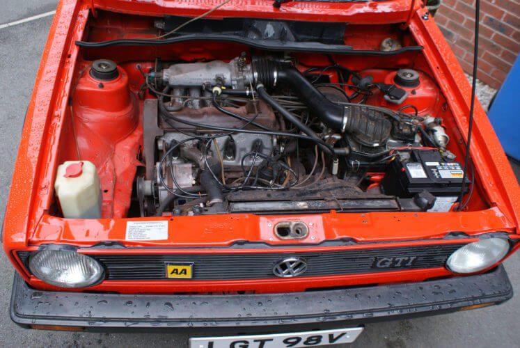 1979 VW Golf GTi Mk1 Series 1 engine bay
