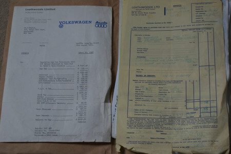 1979 VW Golf GTi Mk1 Series 1 paperwork