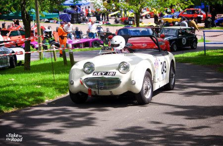 Austin Healey Sprite at Prescott Speed Hill Climb 2015