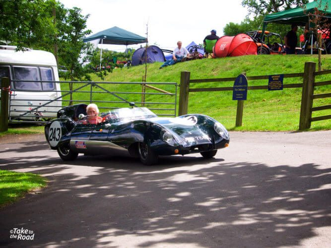 A Lotus Eleven at Prescott Speed Hill Climb 2015
