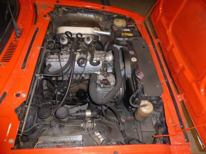 1975 Isuzu 117 Coupe engine bay