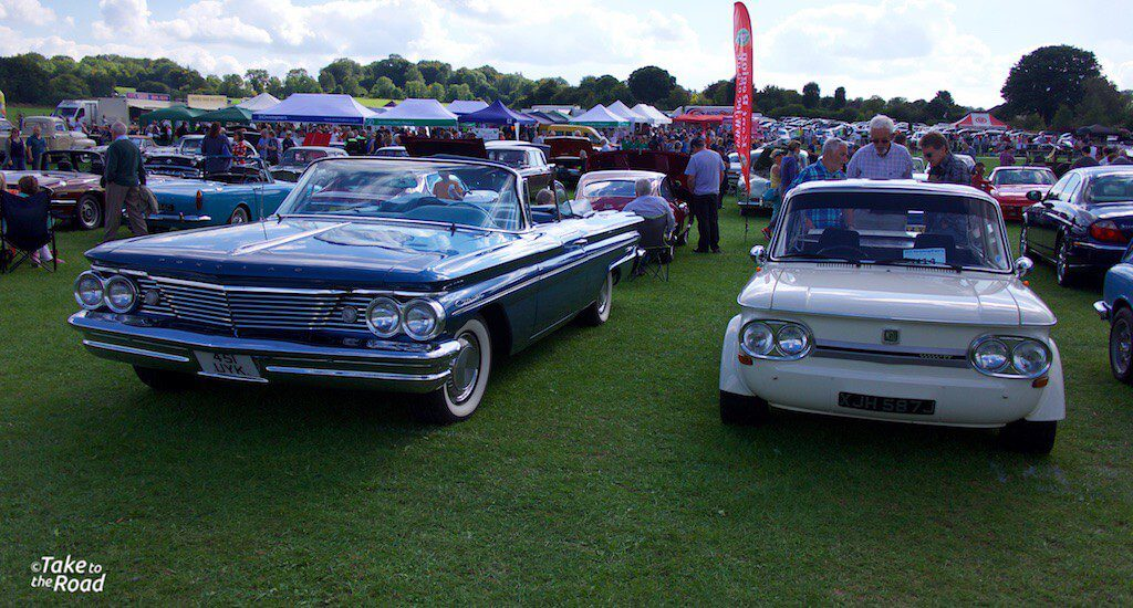 Ponitac Catalina and an NSU TT St Christophers Classic Car Show 2015