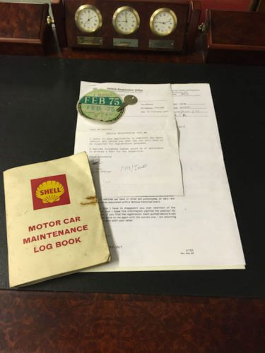 MG MGA Shell Service Book