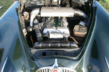 1957 Jaguar Mk1 engine bay