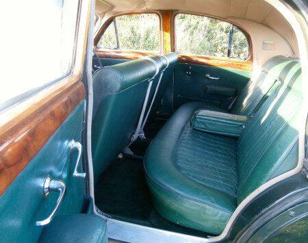 1957 Jaguar Mk1 rear seats