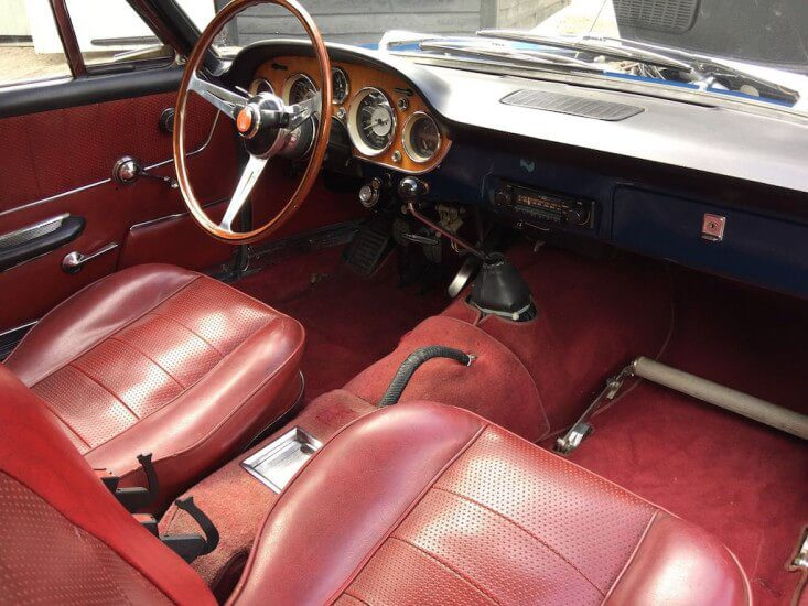 1969 Fiat 2300S engine bay