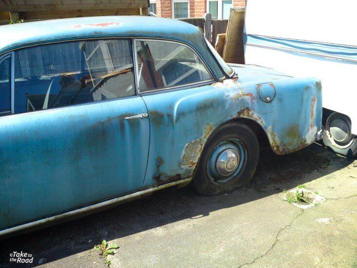 Alvis TD21 abandoned classic cars