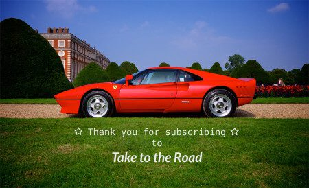 Take to the Road Subscriber Thank You