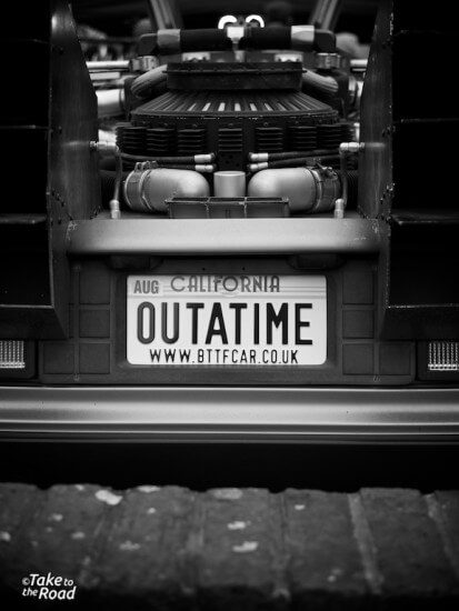 Take to the Road Back to the Future DeLorean feature