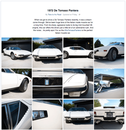 Take to the Road De Tomaso Pantera Review