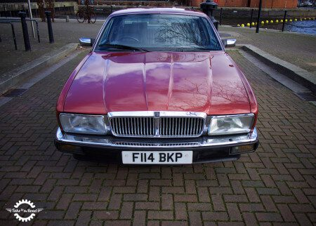 Bordeaux Red. A lovely colour on the XJ40.
