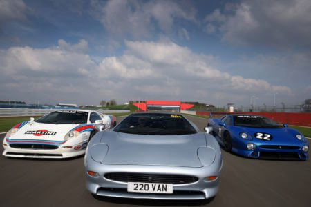 Take to the Road News World Record Jaguar XJ220 parade planned for this years Silverstone Classic