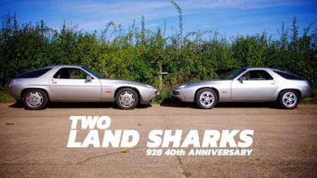 Take to the Road Two Land Sharks – Porsche 928 40th Anniversary