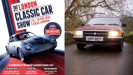 Take to the Road's Vauxhall Viceroy on display at 2018 London Classic Car Show