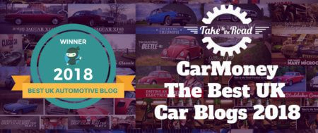 Take to the Road wins CarMoney Best UK Car Blogs 2018