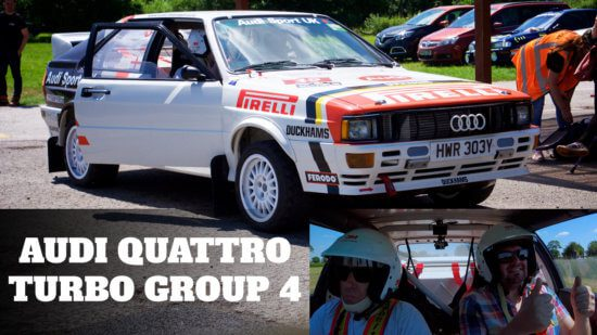 Take to the Road Audi Quattro Turbo Group 4 Spec – 3 laps around Curborough Sprint Course