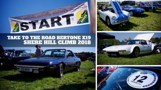 Take to the Road Highlights Shere Hill Climb 2018 in a Bertone x19 Gran Finale