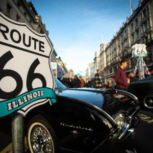 Illinois Route 66 renews partnership with Regent Street Motor Show