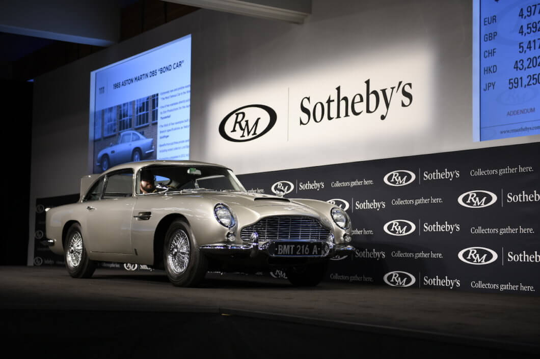 James Bond Aston Martin DB5 sells for record $6.4m