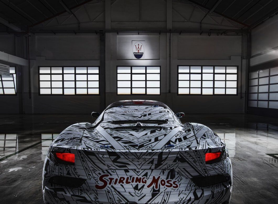 Maserati MC20 Prototype dedicated to Sir Stirling Moss