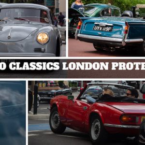 Waterloo Classics stages protest drive through central London