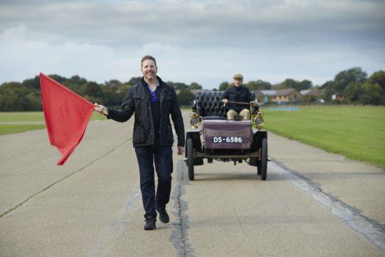 Paul Cowland drives 1903 Knox ahead of London to Brighton Veteran Car Run